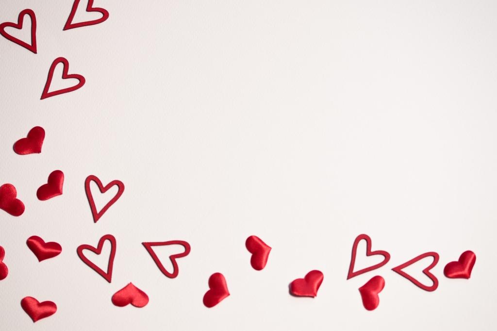 Art Of Hearts Blowing Across A Vanilla Canvas